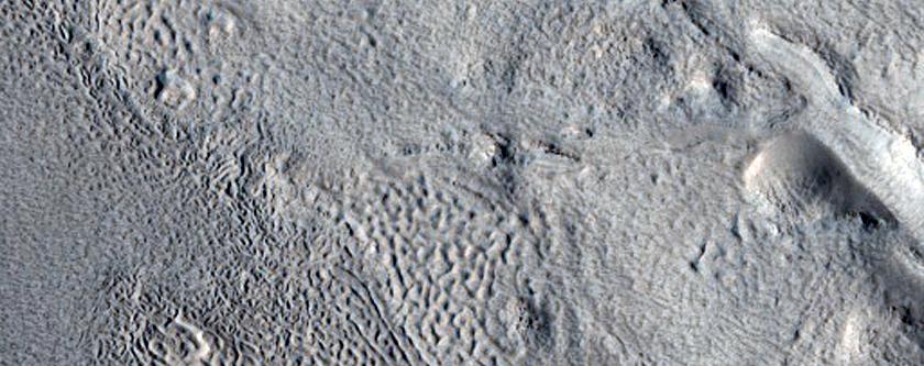 Erosion of Crater Deposits in Northern Arabia Terra