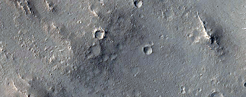 Wrinkle Ridge in Arabia Terra