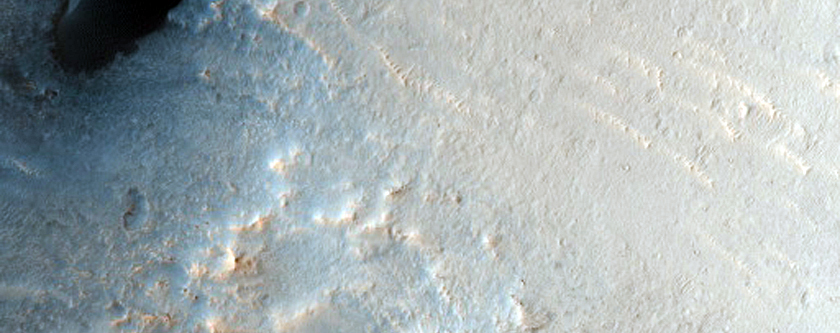 Dune Change in Arabia Region Crater
