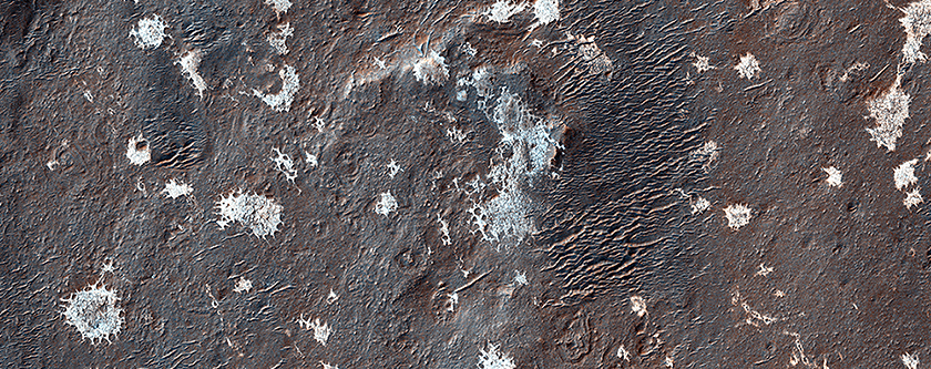 Mysterious Light-Toned Deposit in Vinogradov Crater