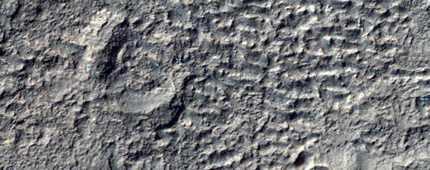Hollowed Surface Near Hellas Region