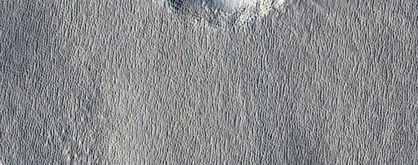 Terraced Bullseye-Like Crater in Arcadia Planitia