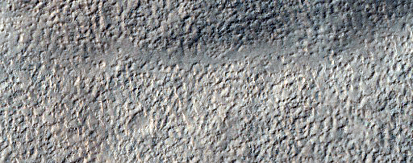 Layers in a Mesa South of Reull Vallis