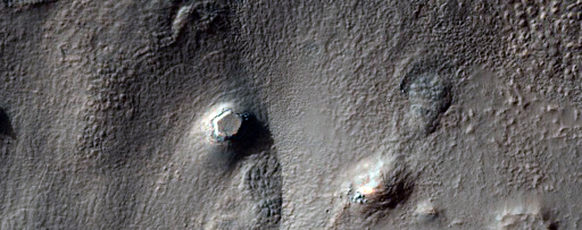 Deformed Crater with Ice-Rich Mantle Fill