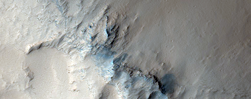 Mound Surrounded by Lava Close to Noctis Fossae