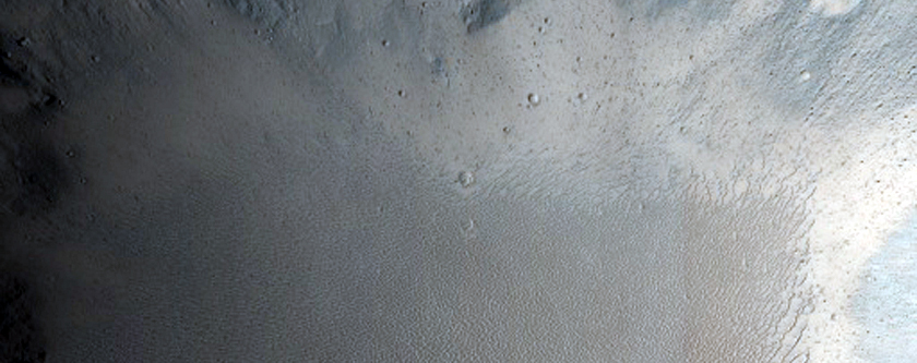 Single Layer Ejecta Diverted around Pre-Existing Crater