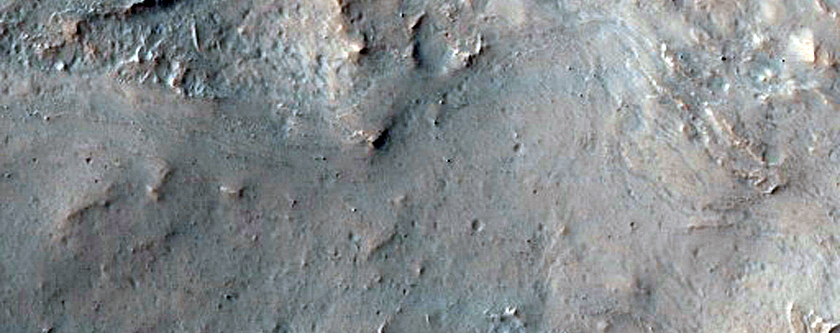 Contact between Ejecta and Rocky Crater Fill