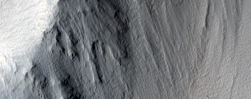 Ravine on Tithonium Chasma