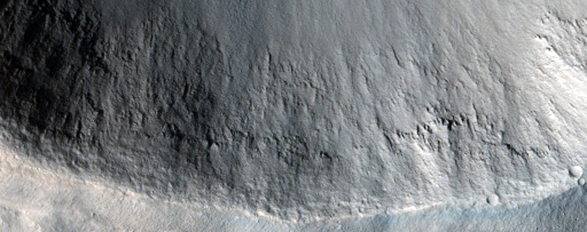 Northern Mid-Latitude Crater