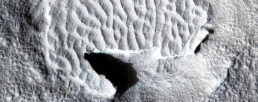 Hardened Dunes in Arcadia Planitia