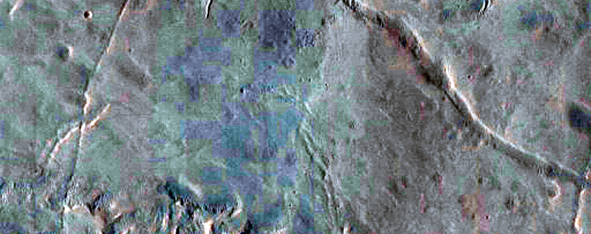 Bedrock-Ripple Transition in Ritchey Crater