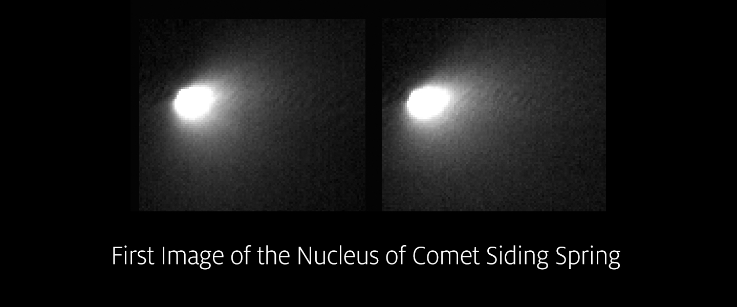 First HiRISE Images of Comet Siding Spring
