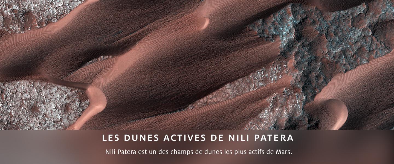 Les dunes actives de Nili Patera