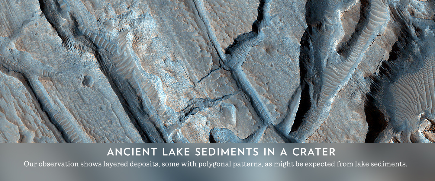 Ancient Lake Sediments in a Crater
