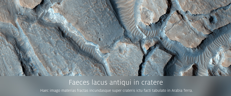Faeces lacus antiqui in cratere