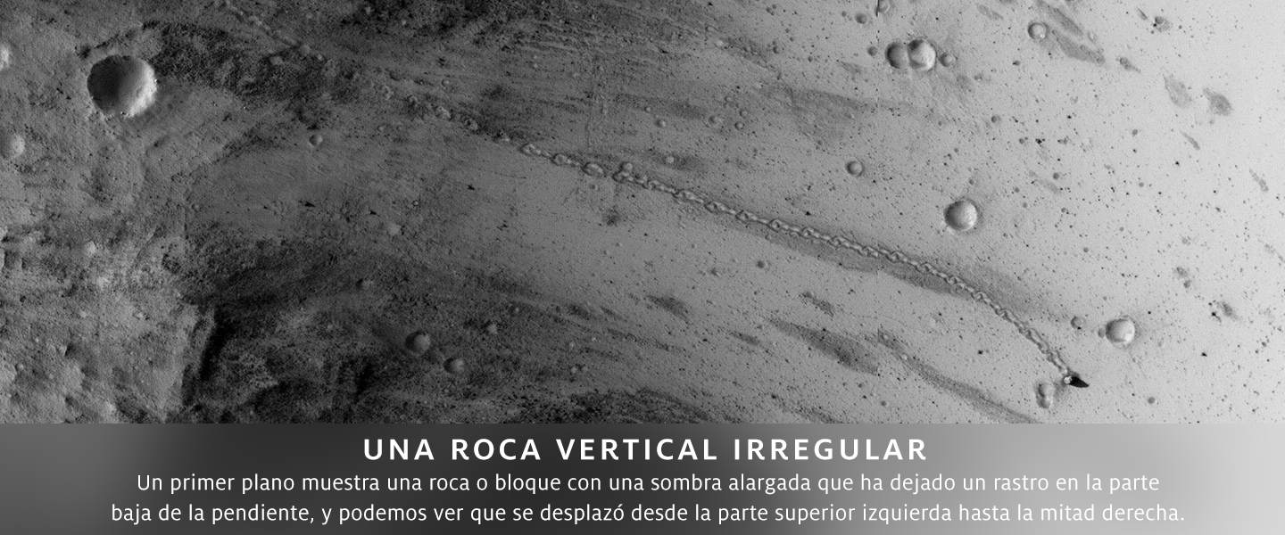 Una roca vertical irregular