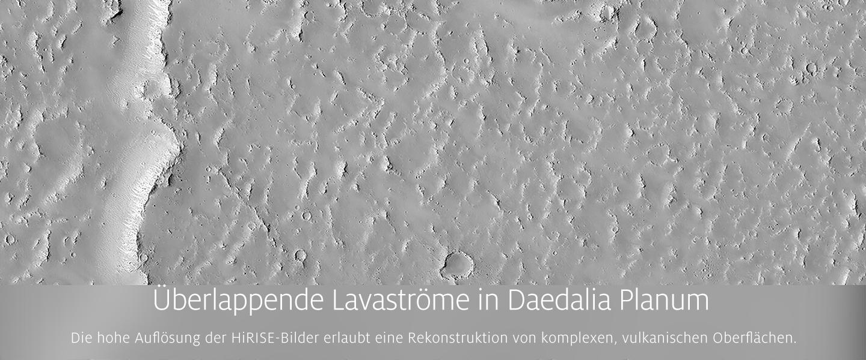 �berlappende Lavastr�me in Daedalia Planum