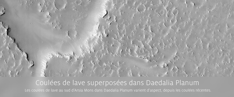 Coul�es de lave superpos�es dans Daedalia Planum