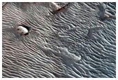 גלי דיונות באיזור של הקוטב הצפוני