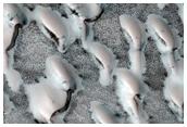 Translucent Ice on Dunes