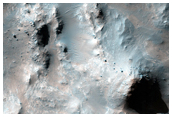 Central Peak of Crater Southwest of Ritchey Crater