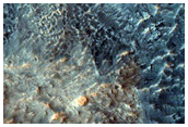 Fractured Floor Materials in Crater in Arabia Terra