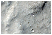 Channels in Filled Crater