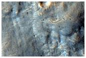 Possible Fan in Crater Ejecta in North Arabia Terra