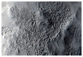 Valley Entering Crater in Northwest Arabia Terra
