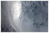 Valleys along Edge of Crater in Northwest Arabia Terra