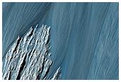 Frana rivelatrice in Hebes Chasma