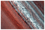 Exposure of North Polar Layered Deposits