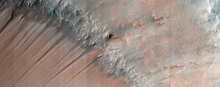 Gullies and Bedrock in Nirgal Vallis