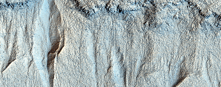 Gullies in Liu Hsin Crater