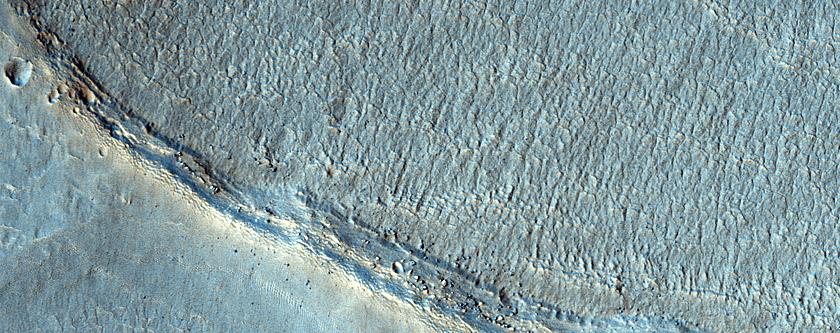 Northern Rim of Asimov Crater