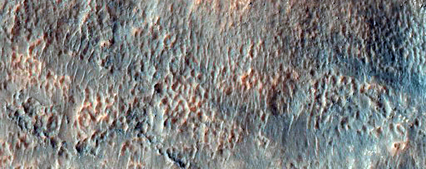 Gullies Near Crater Rim