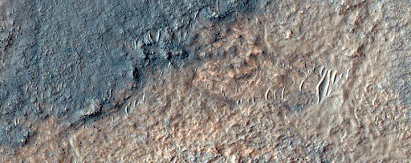 Bedrock in Kaiser Crater