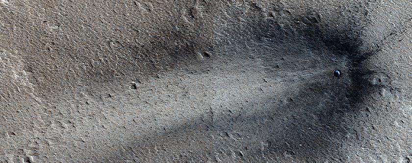 A Recent Impact in Elysium Planitia