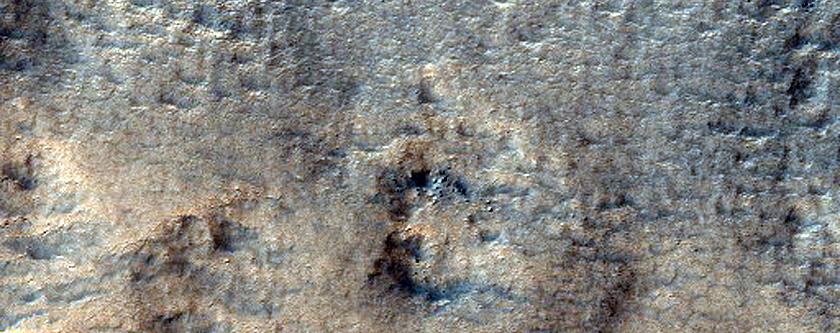 Scallops on Crater Rim