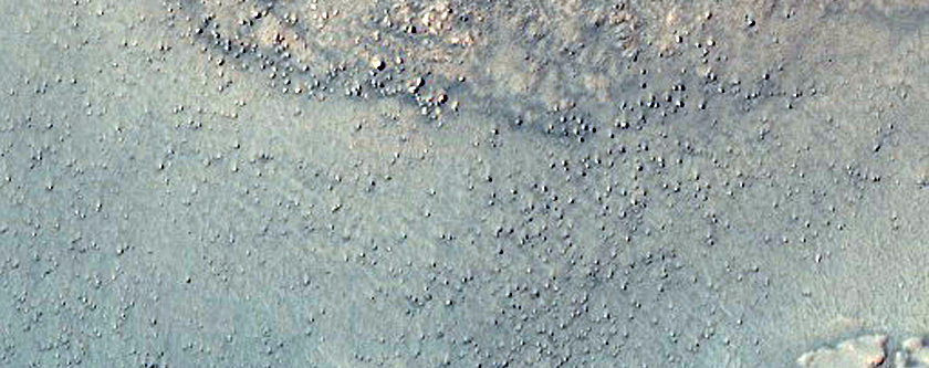 Degraded Crater Rim and Dunes