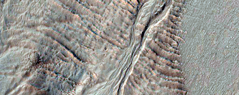 Gullies and Viscous Flow Feature in Nereidum Montes