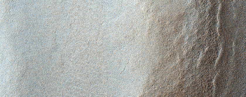Banded Terrain and Ridge in Sisyphi Planum in THEMIS V32223005