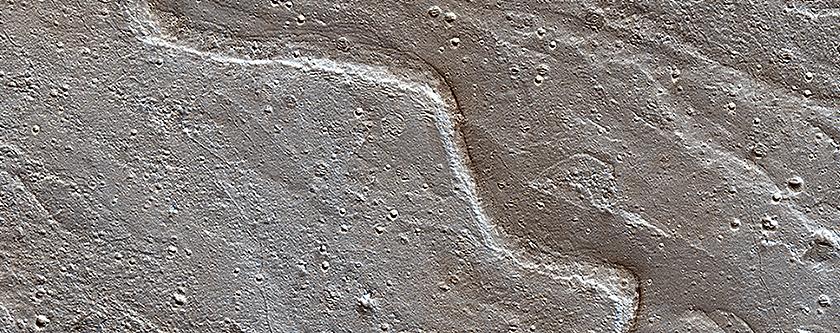 Sinuous Ridge on the Orson Welles Bajada