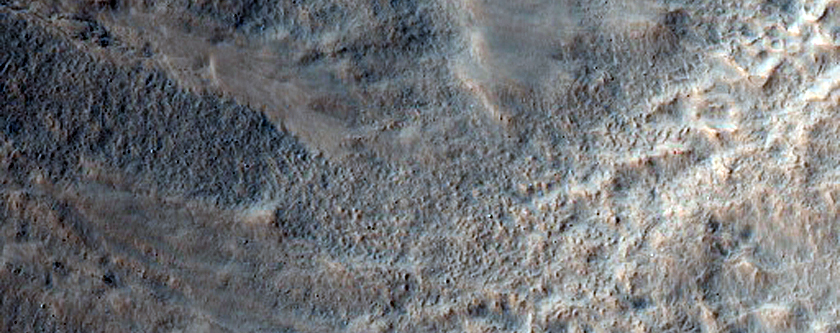 Bright Gully Fans from Central Peak of Li Fan Crater