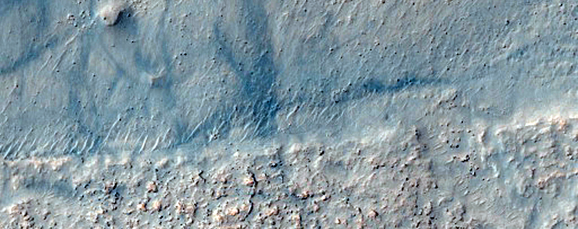 Landform in Valley in CTX Image
