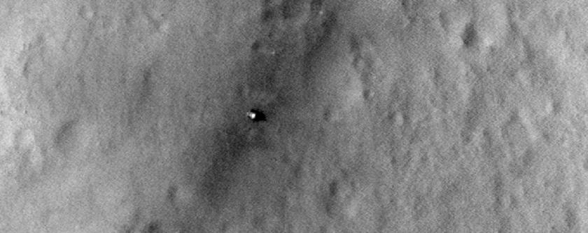 Curiosity Landing Site Over Time