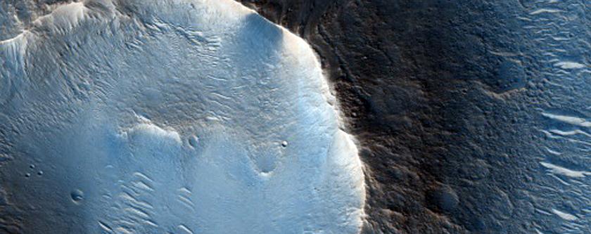 Twmpathau bychain yn Chryse Planitia