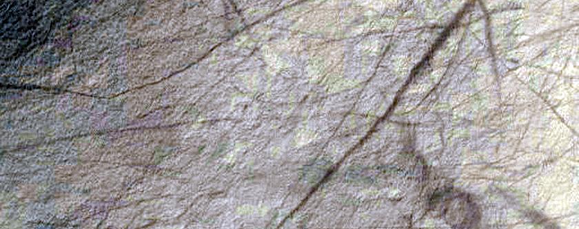 Monitor Gullies in Henbury Crater