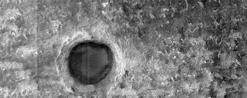 Crater on South Polar Layered Deposits