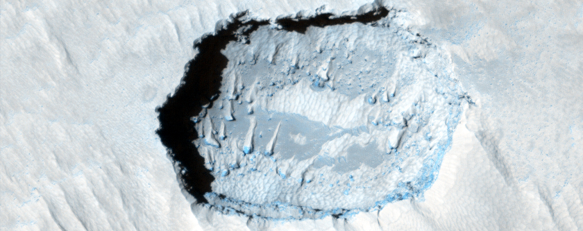 Pits on Arsia Mons